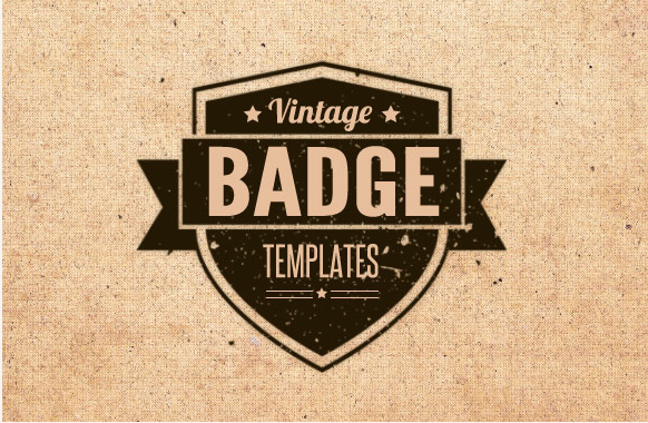 Vintage Badge Templates – Brushes, Vectors and Textures