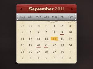 Calendar-Widget-PSD-File