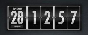 Dark-Polished-Flip-Clock-and-Calendar-Free-PSD-Template