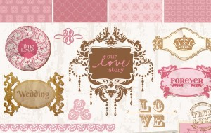 5127-Vintage-wedding-decorative-frames-and-elements-vector