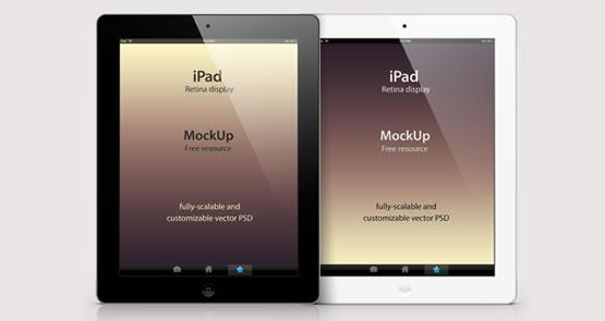 Mockup-psd-iPad-3-noir-et-blanc-vue-portrait-et-paysage