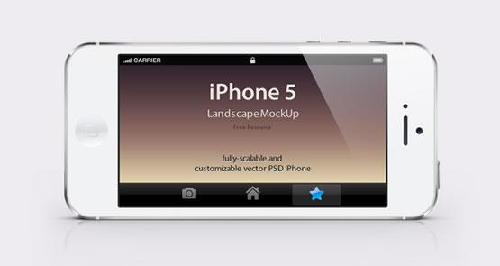 Mockup-psd-iPhone-5-noir-et-blanc-vue-paysage