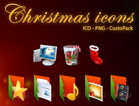 Custo-Man-Christmas-icons