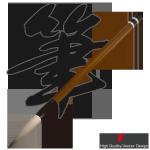 リアルイラスト無料素材「筆」EPS / PNGのサンプル画像